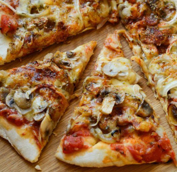 Пицца с грибами в духовке в домашних условиях