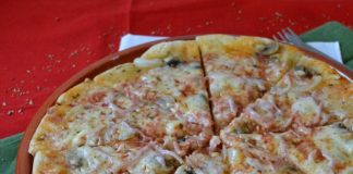Видео рецепт быстрой пиццы с грибами