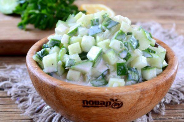 Диетический салат из огурца для стройной фигуры