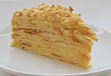 Простой торт Наполеон советского времени