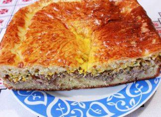 Пирог с рыбой на дрожжевом тесте