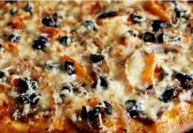 Классическая пицца с ветчиной и шампиньонами