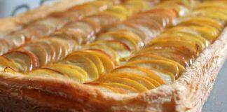 Слоеный яблочный пирог из готового теста