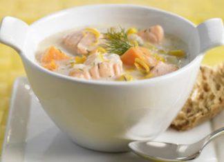 Как приготовить шведский суп из семги?