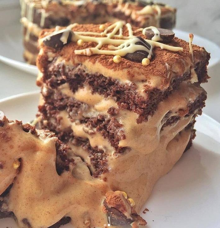 иетический тортик с варёной ПП-сгущёнкой